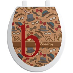 Vintage Hipster Toilet Seat Decal (Personalized)