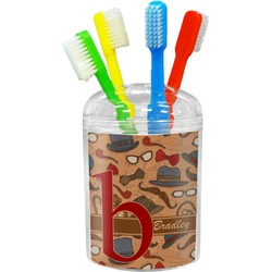 Vintage Hipster Toothbrush Holder (Personalized)