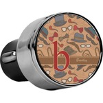 Vintage Hipster USB Car Charger (Personalized)