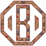 Vintage Hipster Monogram Decal - Custom Sized (Personalized)