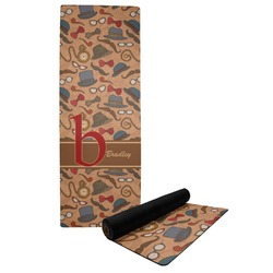 Vintage Hipster Yoga Mat (Personalized)