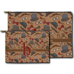 Vintage Hipster Zipper Pouch (Personalized)