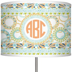 "Teal Ribbons & Labels 13"" Drum Lamp Shade (Personalized)"