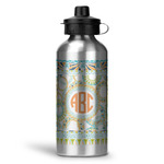Teal Ribbons & Labels Water Bottle - Aluminum - 20 oz (Personalized)