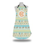 Teal Ribbons & Labels Apron (Personalized)