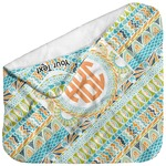 Teal Ribbons & Labels Baby Hooded Towel (Personalized)