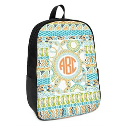 Teal Ribbons & Labels Kids Backpack (Personalized)