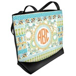 Teal Ribbons & Labels Beach Tote Bag (Personalized)