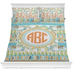 Teal Ribbons & Labels Comforters (Personalized)
