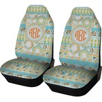 Teal Ribbons & Labels Car Seat Covers (Set of Two) (Personalized)