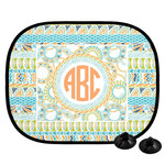 Teal Ribbons & Labels Car Side Window Sun Shade (Personalized)