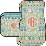 Teal Ribbons & Labels Car Floor Mats (Personalized)