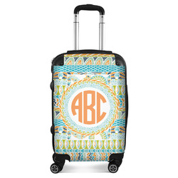 Teal Ribbons & Labels Suitcase (Personalized)