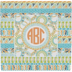 Teal Ribbons & Labels Ceramic Tile Hot Pad (Personalized)