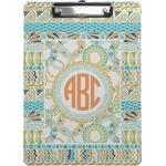 Teal Ribbons & Labels Clipboard (Personalized)