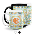 Teal Ribbons & Labels Coffee Mugs (Personalized)