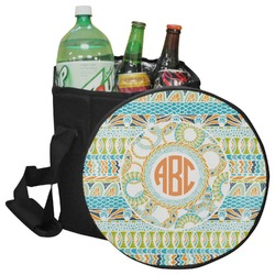 Teal Ribbons & Labels Collapsible Cooler & Seat (Personalized)