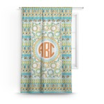 Teal Ribbons & Labels Curtain (Personalized)