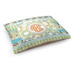 Teal Ribbons & Labels Dog Bed (Personalized)