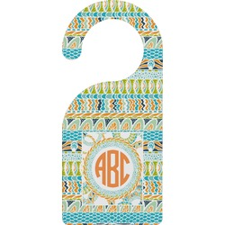 Teal Ribbons & Labels Door Hanger (Personalized)