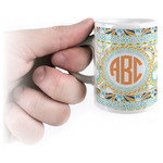 Teal Ribbons & Labels Espresso Mug - 2.5 oz (Personalized)