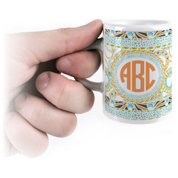 Teal Ribbons & Labels Espresso Cups (Personalized)