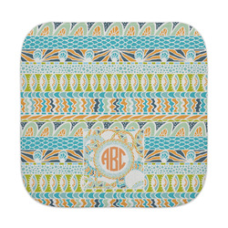 Teal Ribbons & Labels Face Towel (Personalized)