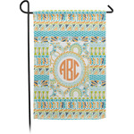 Teal Ribbons & Labels Garden Flag (Personalized)