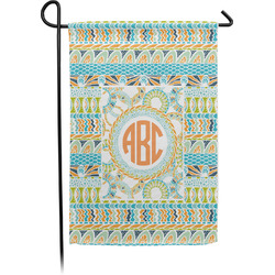 Teal Ribbons & Labels Garden Flag - Single or Double Sided (Personalized)