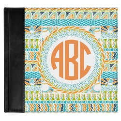 Teal Ribbons & Labels Genuine Leather Baby Memory Book (Personalized)