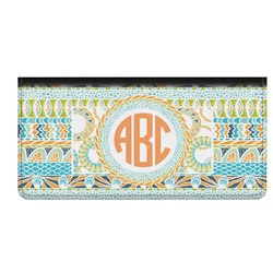 Teal Ribbons & Labels Genuine Leather Checkbook Cover (Personalized)