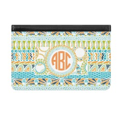 Teal Ribbons & Labels Genuine Leather ID & Card Wallet - Slim Style (Personalized)