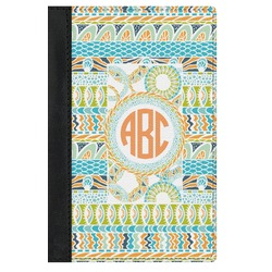 Teal Ribbons & Labels Genuine Leather Passport Cover (Personalized)