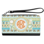 Teal Ribbons & Labels Genuine Leather Smartphone Wrist Wallet (Personalized)