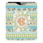 Teal Ribbons & Labels Genuine Leather iPad Sleeve (Personalized)