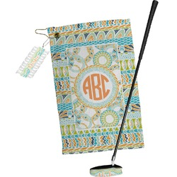 Teal Ribbons & Labels Golf Towel Gift Set (Personalized)