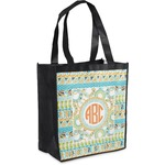 Teal Ribbons & Labels Grocery Bag (Personalized)