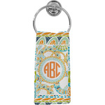 Teal Ribbons & Labels Hand Towel - Full Print (Personalized)