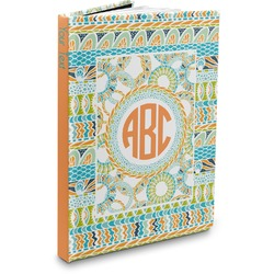Teal Ribbons & Labels Hardbound Journal (Personalized)
