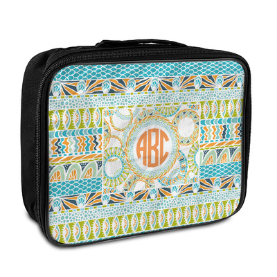Teal Ribbons & Labels Insulated Lunch Bag (Personalized)