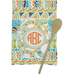 Teal Ribbons & Labels Kitchen Towel - Full Print (Personalized)
