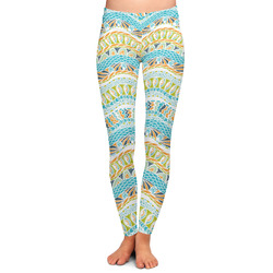 Teal Ribbons & Labels Ladies Leggings (Personalized)