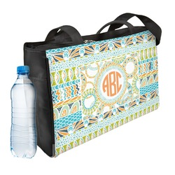 Teal Ribbons & Labels Ladies Workout Bag (Personalized)