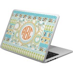 Teal Ribbons & Labels Laptop Skin - Custom Sized (Personalized)
