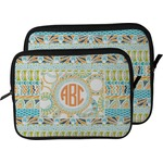 Teal Ribbons & Labels Laptop Sleeve / Case (Personalized)