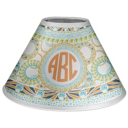 Teal Ribbons & Labels Coolie Lamp Shade (Personalized)