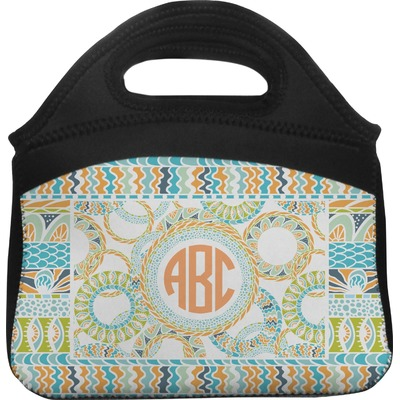 Teal Ribbons & Labels Lunch Tote (Personalized)