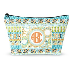 Teal Ribbons & Labels Makeup Bags (Personalized)