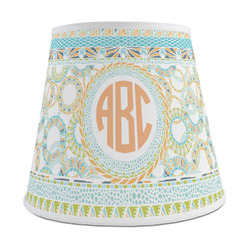 Teal Ribbons & Labels Empire Lamp Shade (Personalized)