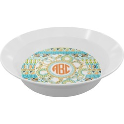 Teal Ribbons & Labels Melamine Bowls (Personalized)